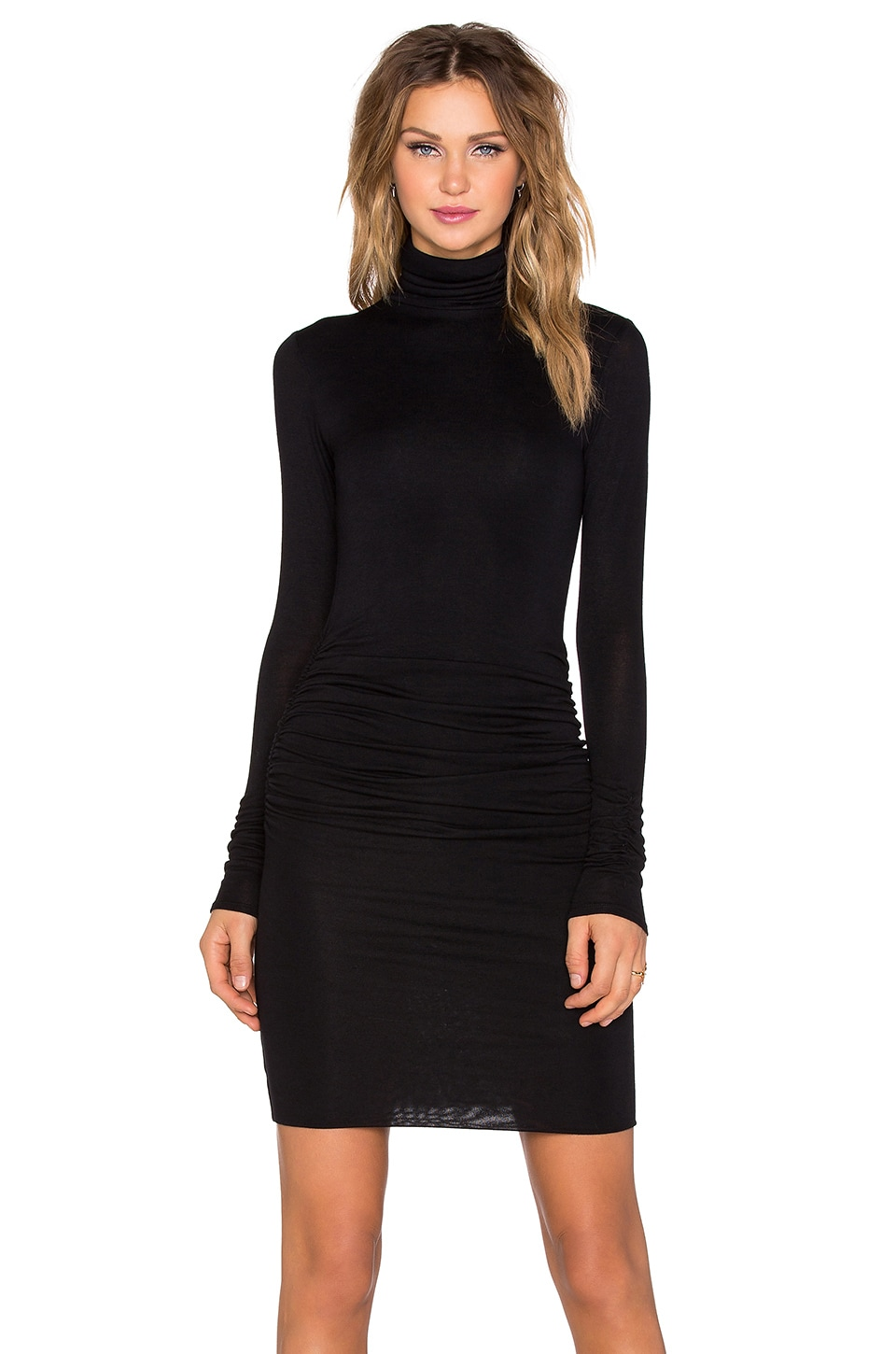 Black turtleneck dress - Dress Yp