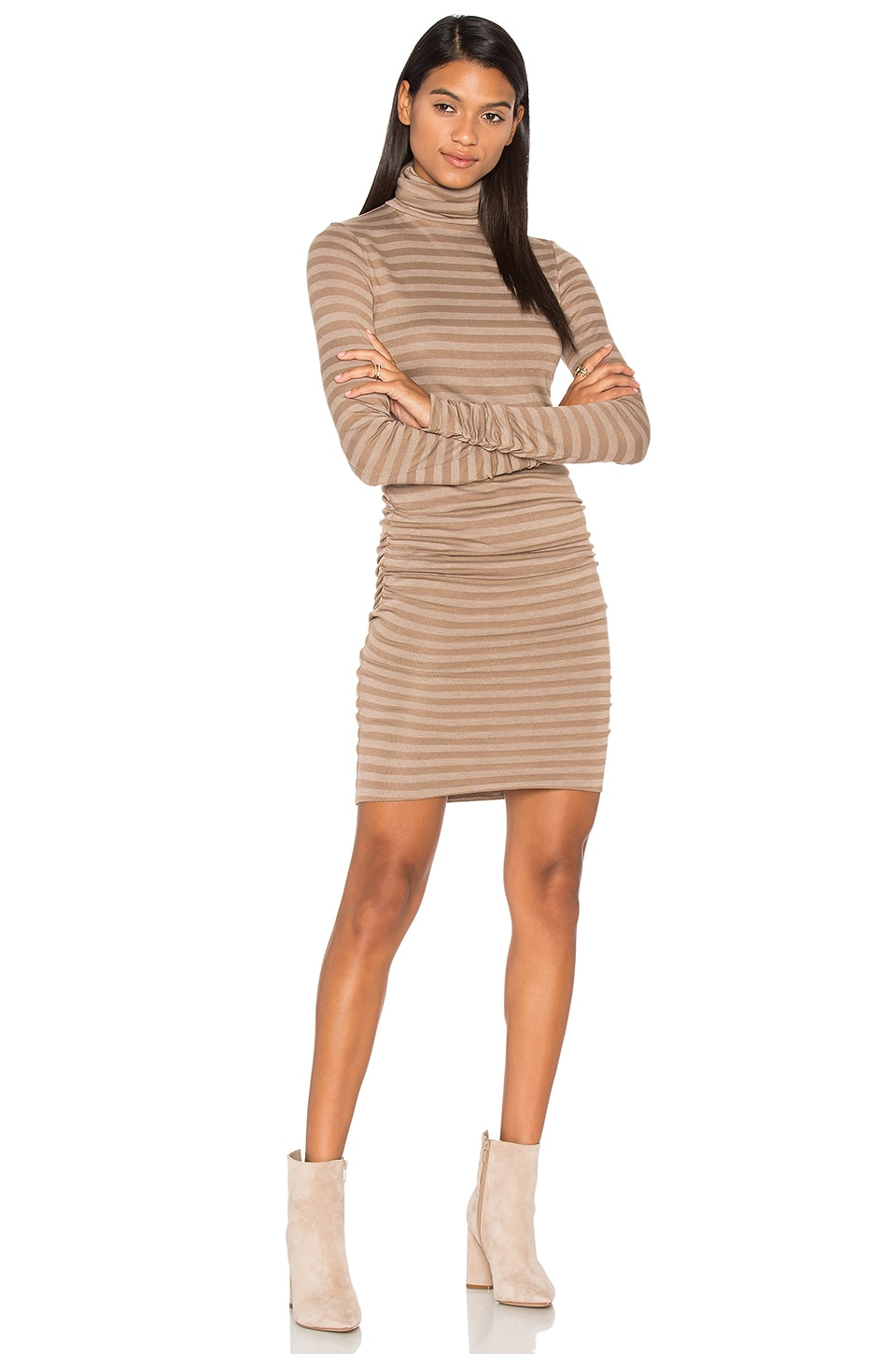 twenty Luxe Turtleneck Dress in Heather Rye