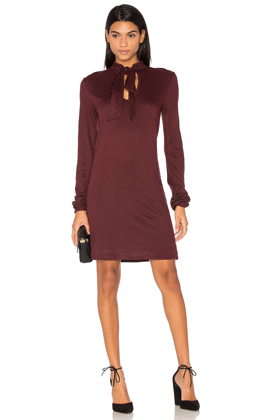 Rib Tie Neck Dress by twenty