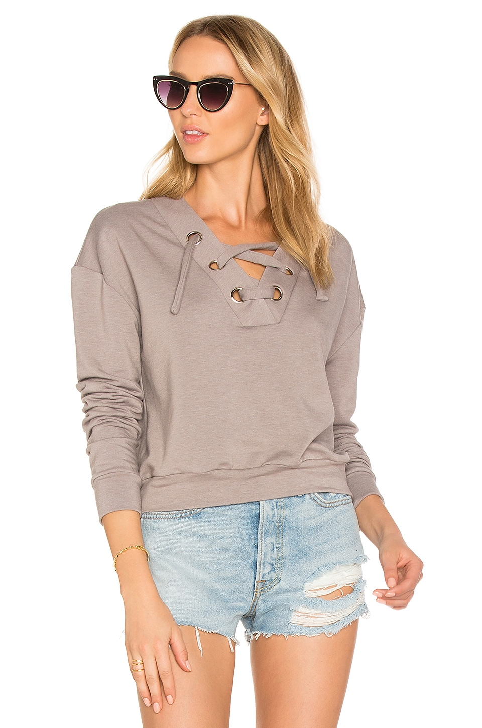 Superior Lace Up Sweater by Twenty