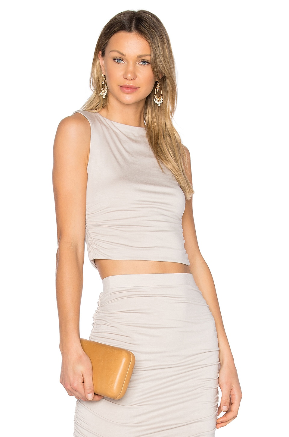 twenty Superior Cropped Tank in Taupe