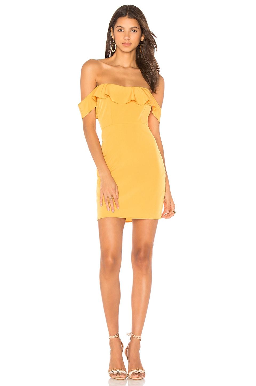 Two Arrows Kate Mini Dress in Gold
