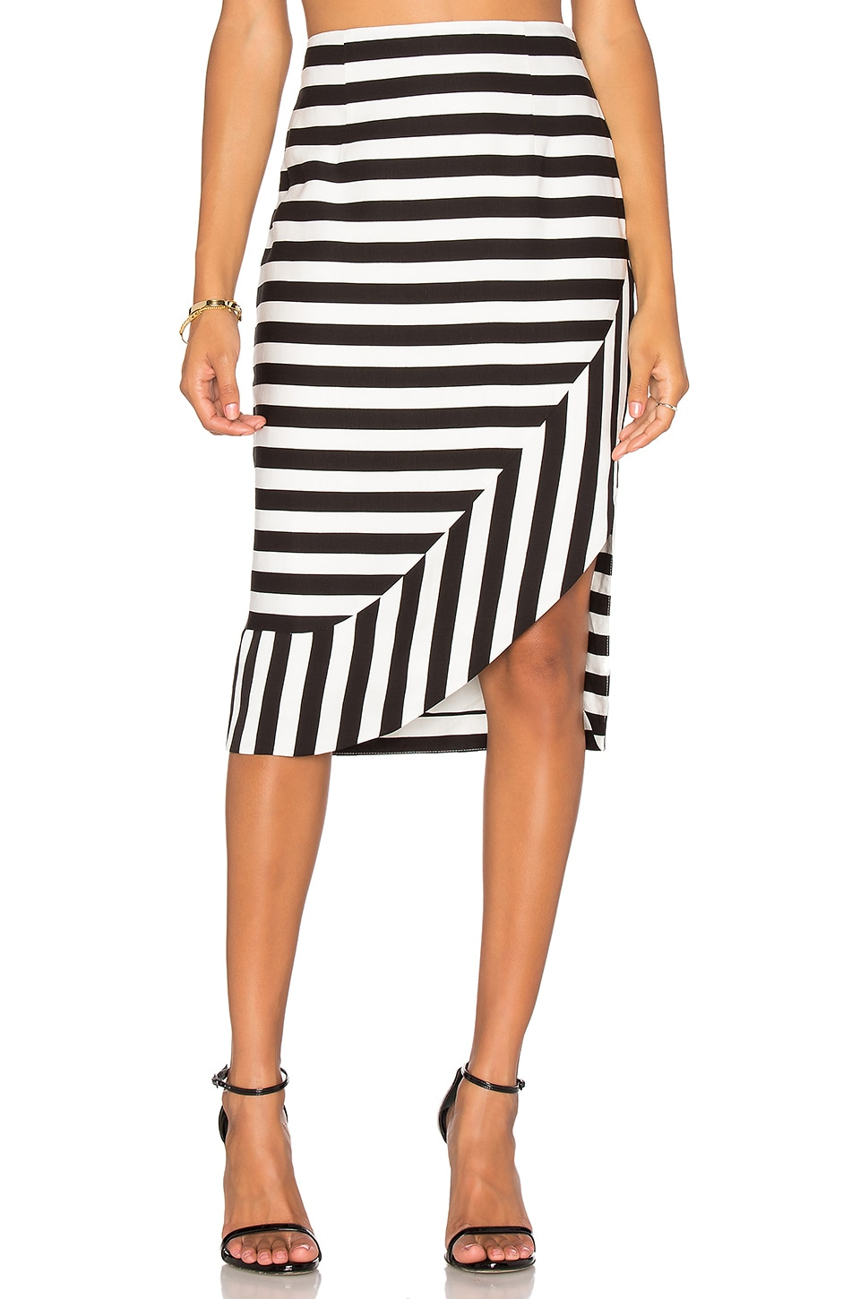 The Borsa Stripe Skirt by TY-LR