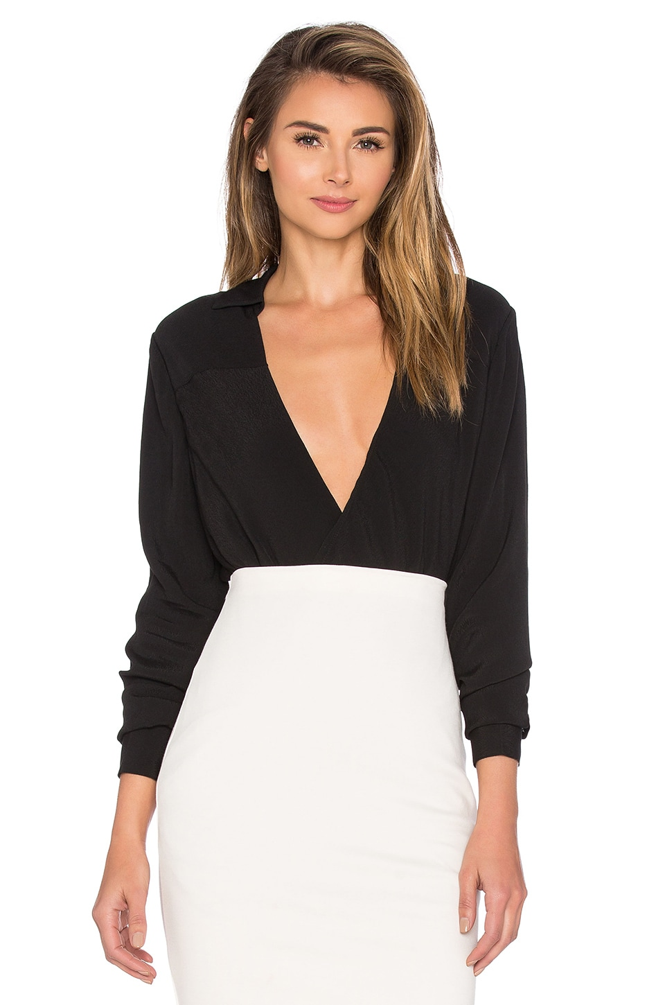 TY-LR The Catherine Long Sleeve Shirt in Black