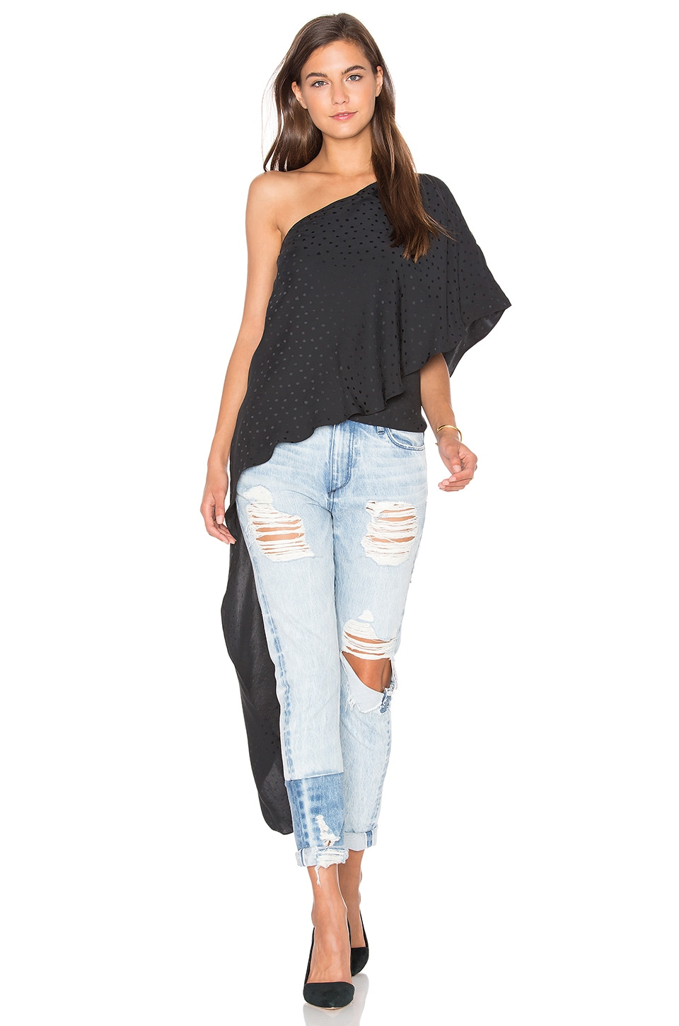 The Solea One Shoulder Top by TY-LR