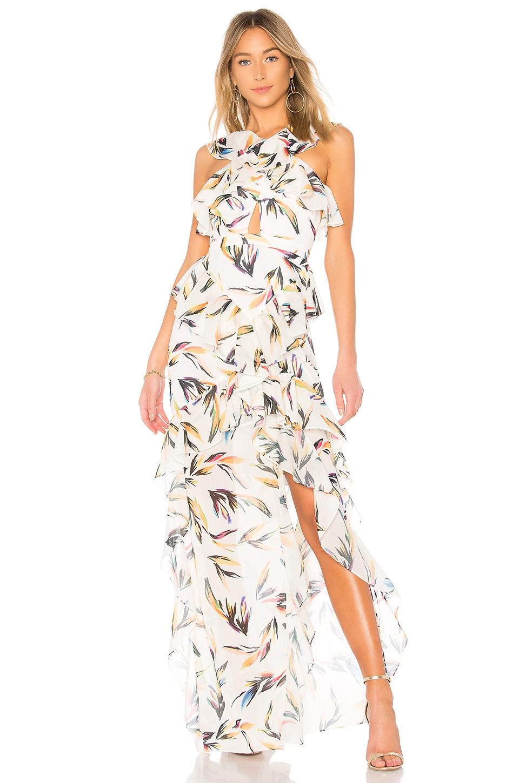 AMUR Tessa Dress in White