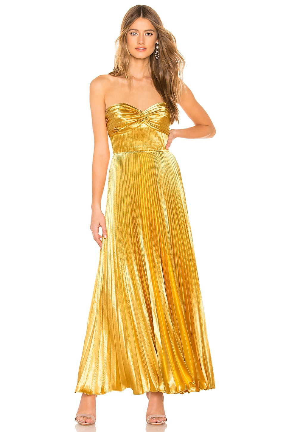 AMUR Belle Gown in Gold