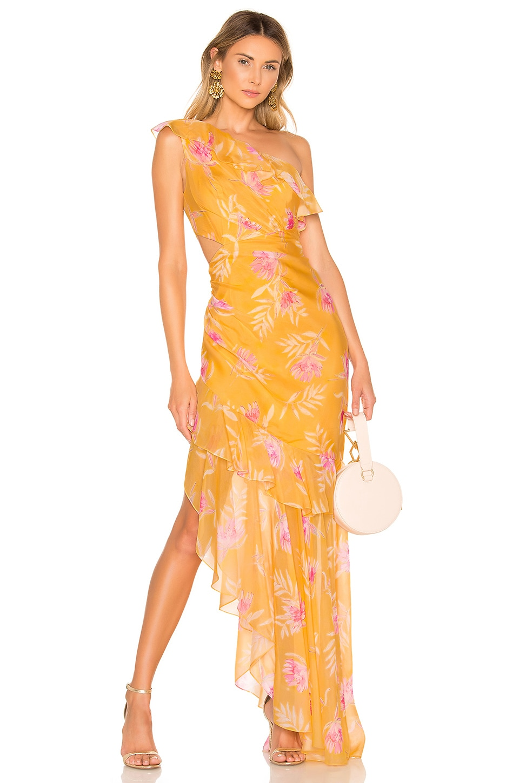 AMUR Vi Gown in Golden Yellow