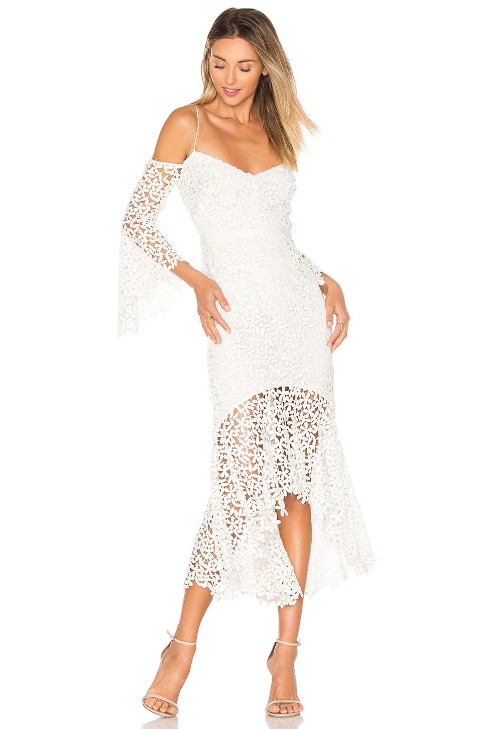 AMUR Amanda Dress in White
