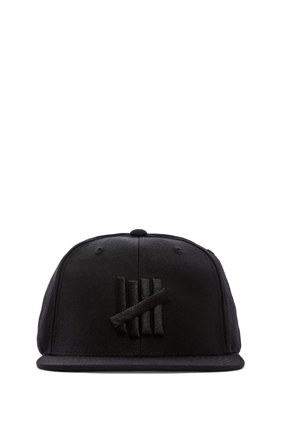 Undefeated 5 Strike Tonal Snapback in Black