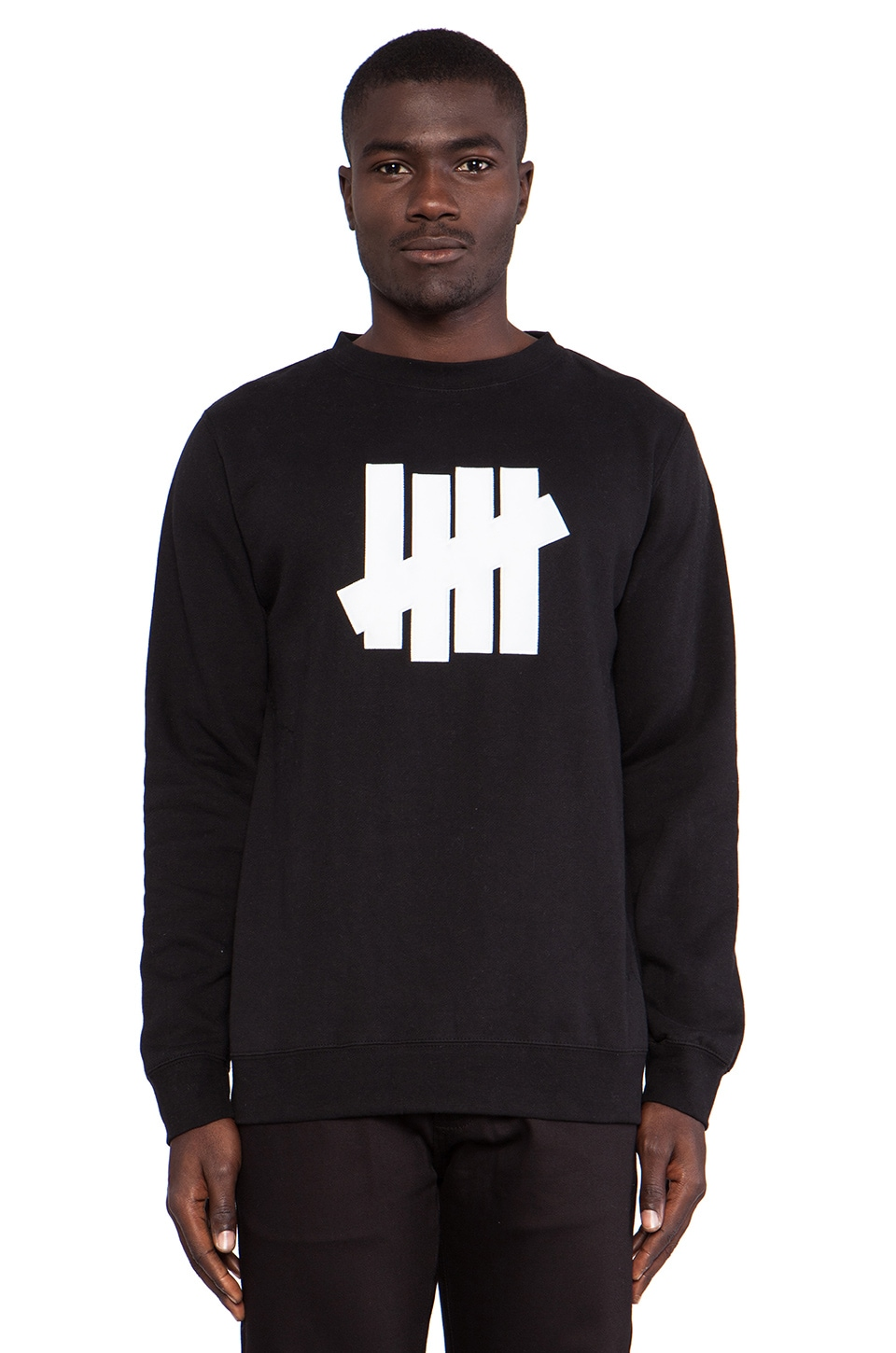 Undefeated 5 Strike Basic Pullover Applique in Black