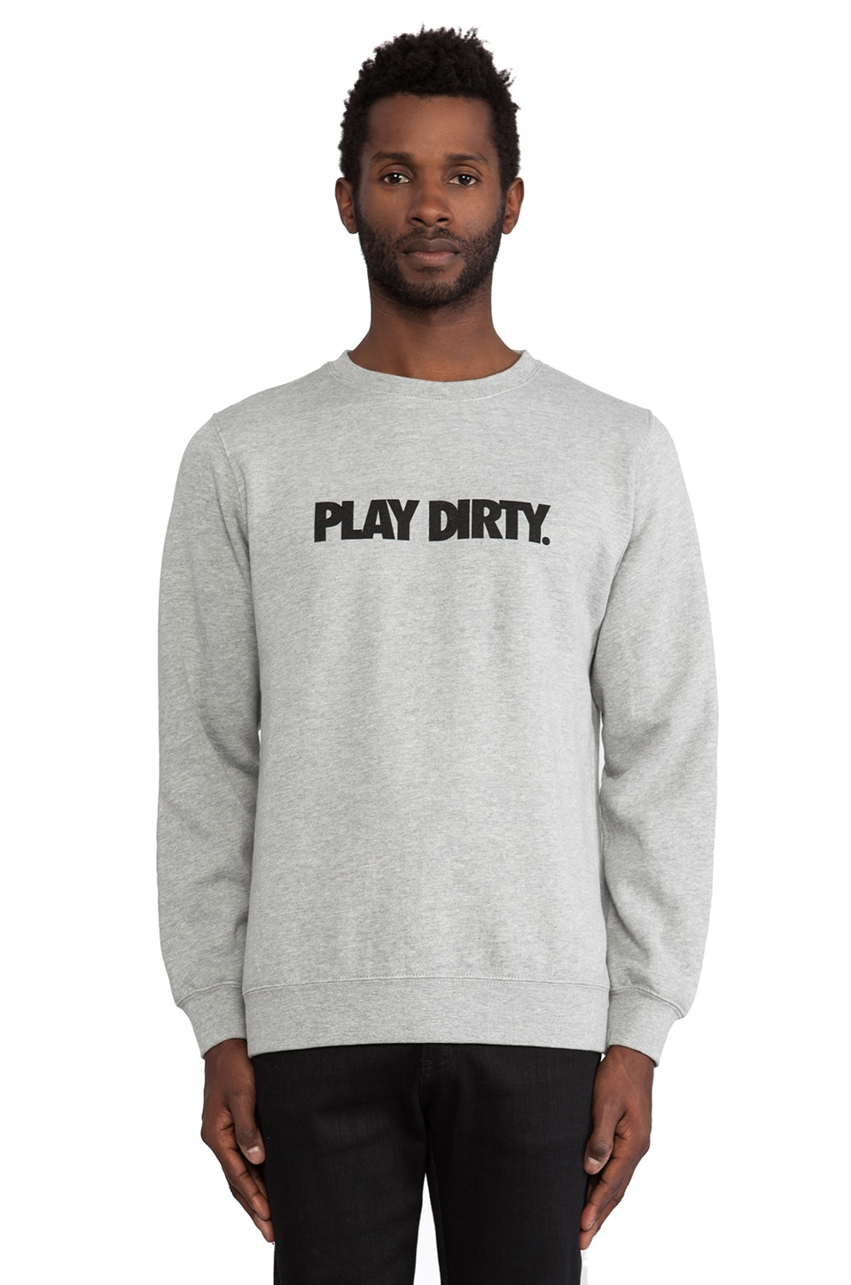 Undefeated Play Dirty Pullover in Grey Heather