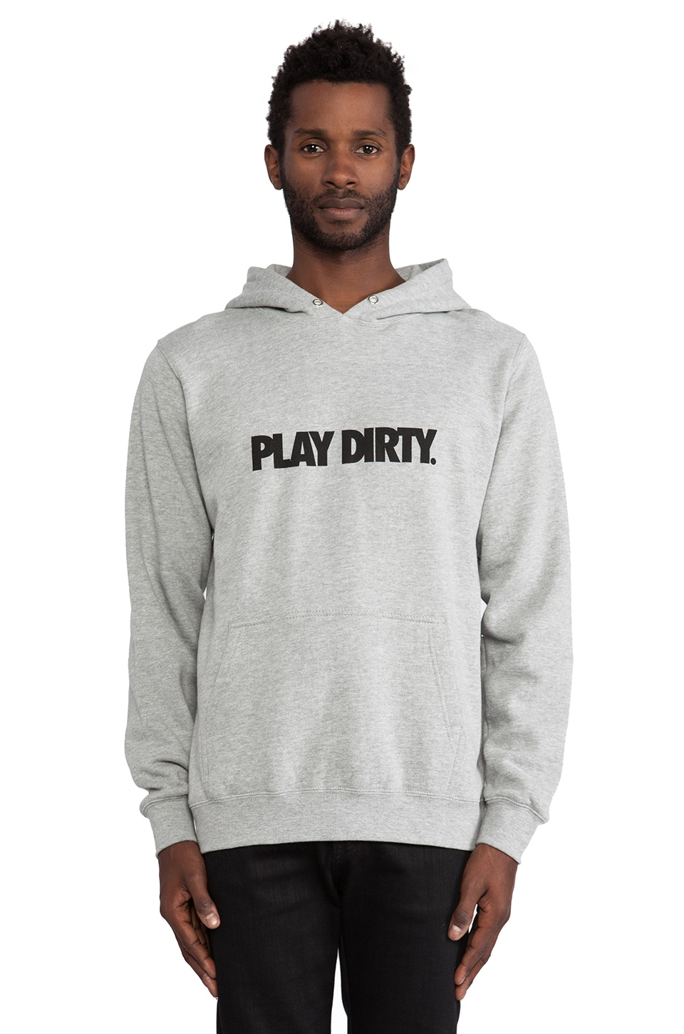 Undefeated Play Dirty Hoodie in Grey Heather