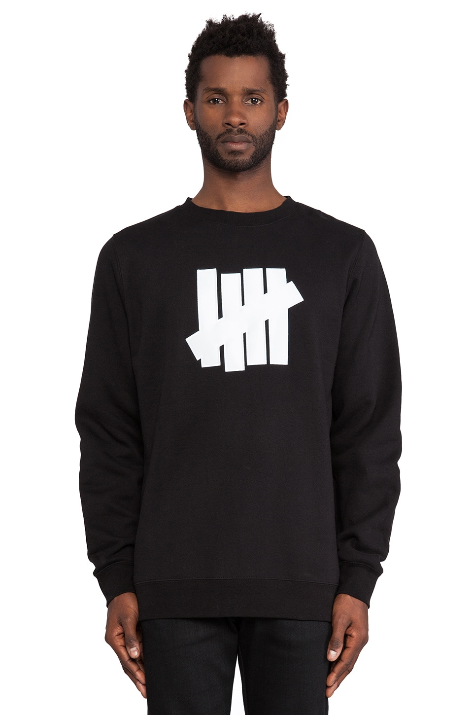 Undefeated 5 Strike Pullover in Black