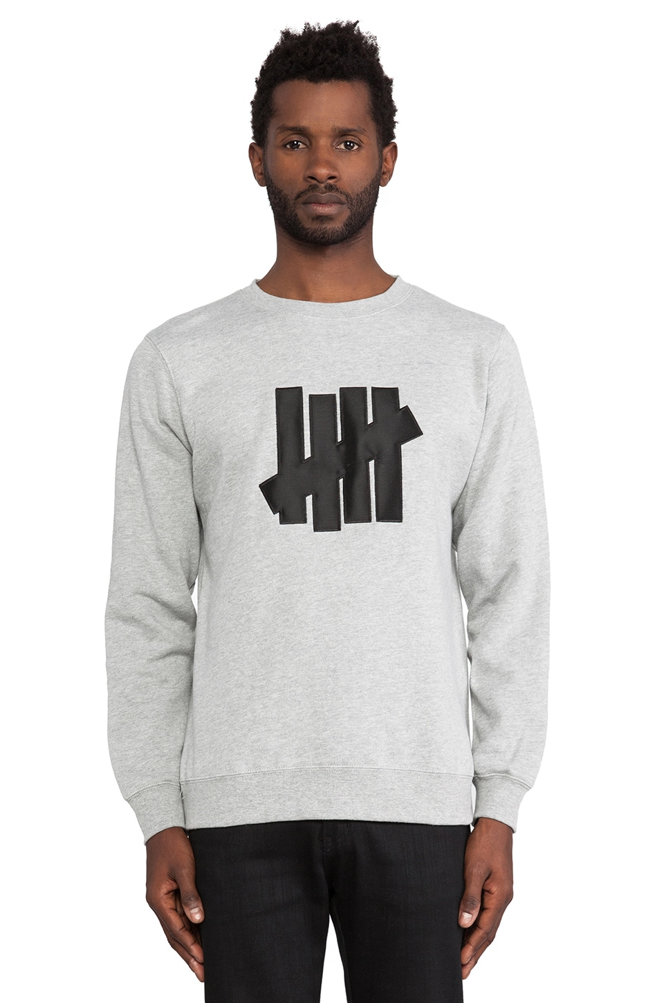 Undefeated 5 Strike Pullover in Grey Heather
