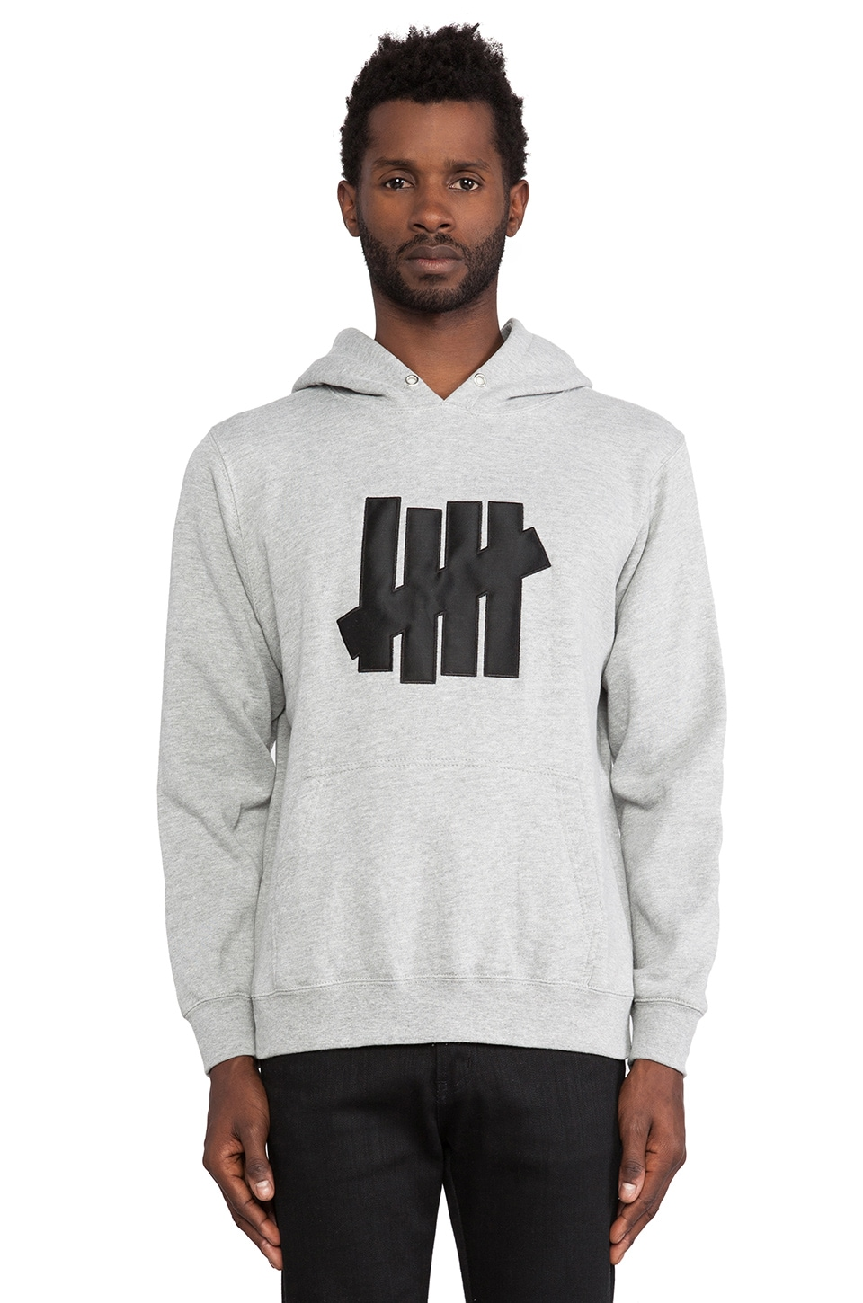 Undefeated 5 Strike Hoodie in Grey Heather