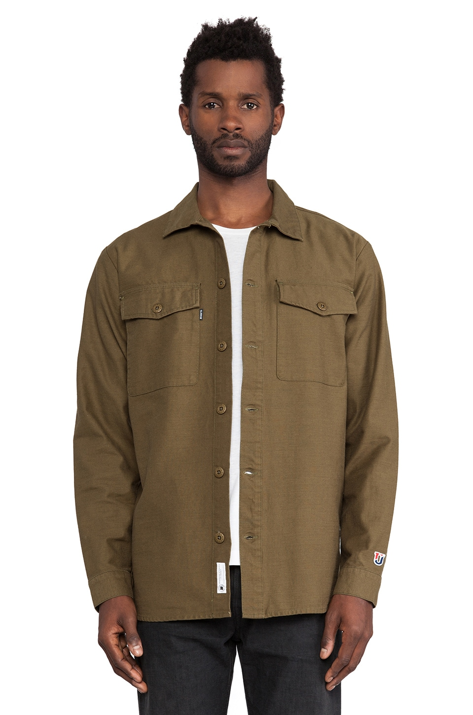 Undefeated BDU Back Button Up in Olive