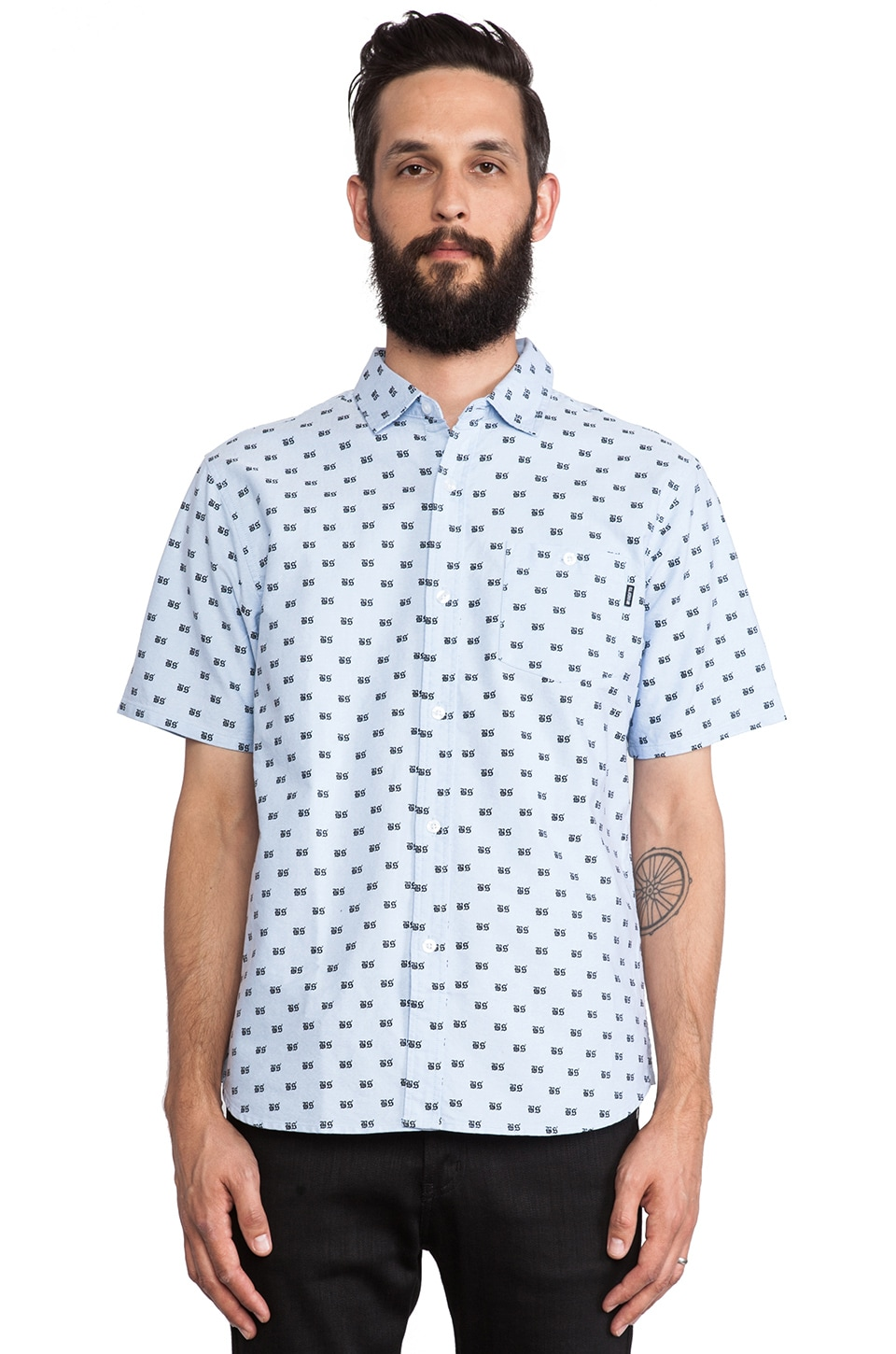 Undefeated BS Button Up in Light Blue