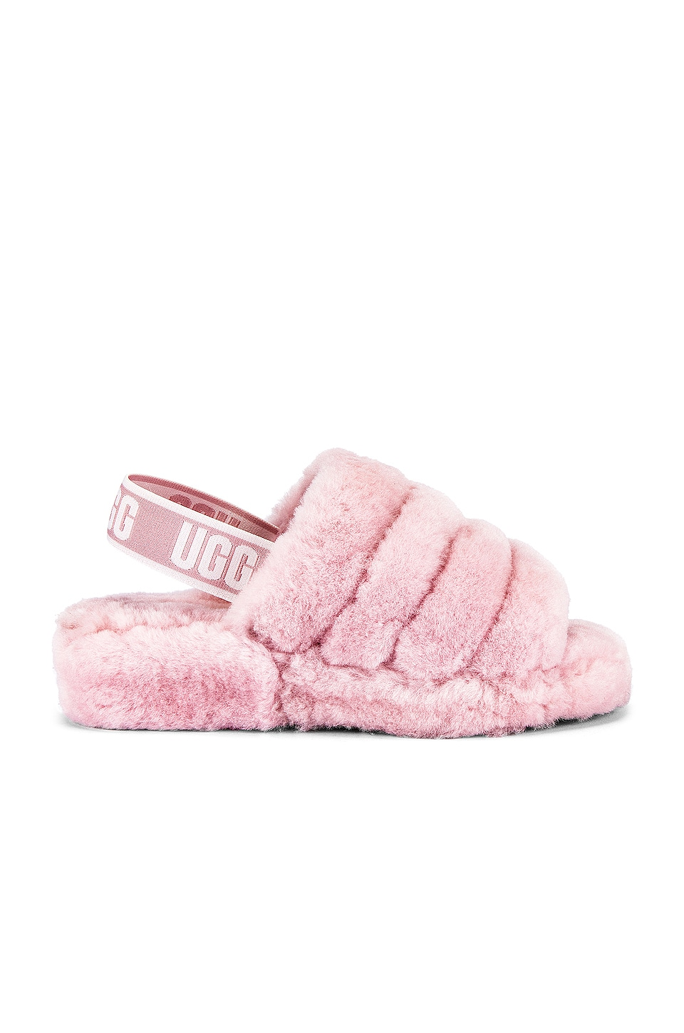 UGG Fluff Yeah Fur Slide in Seashell Pink