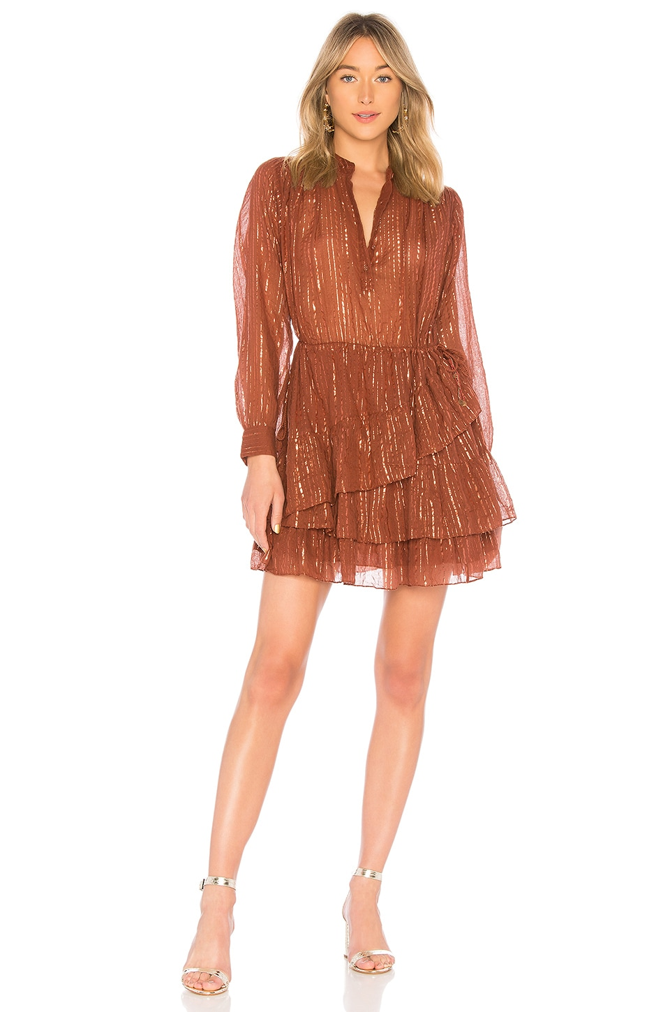 Ulla Johnson Della Dress in Mahogany