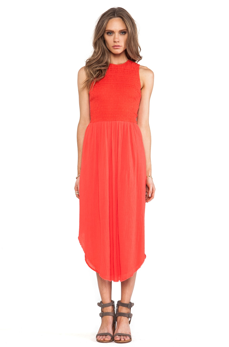 Ulla Johnson Cowrie Dress in Coral