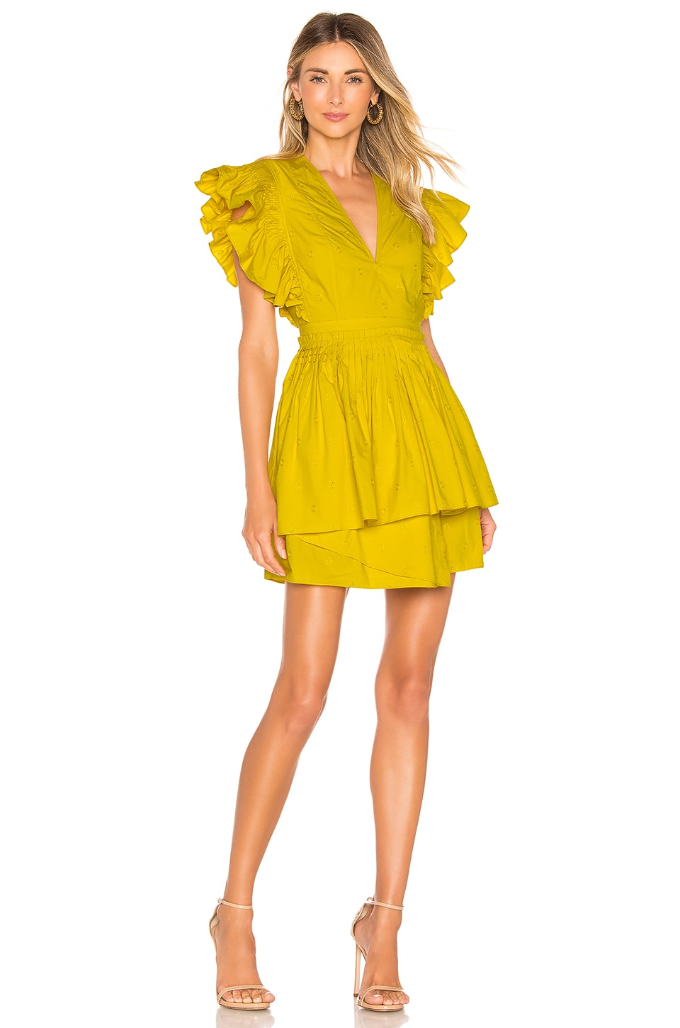 Ulla Johnson Tessa Dress in Chartreuse