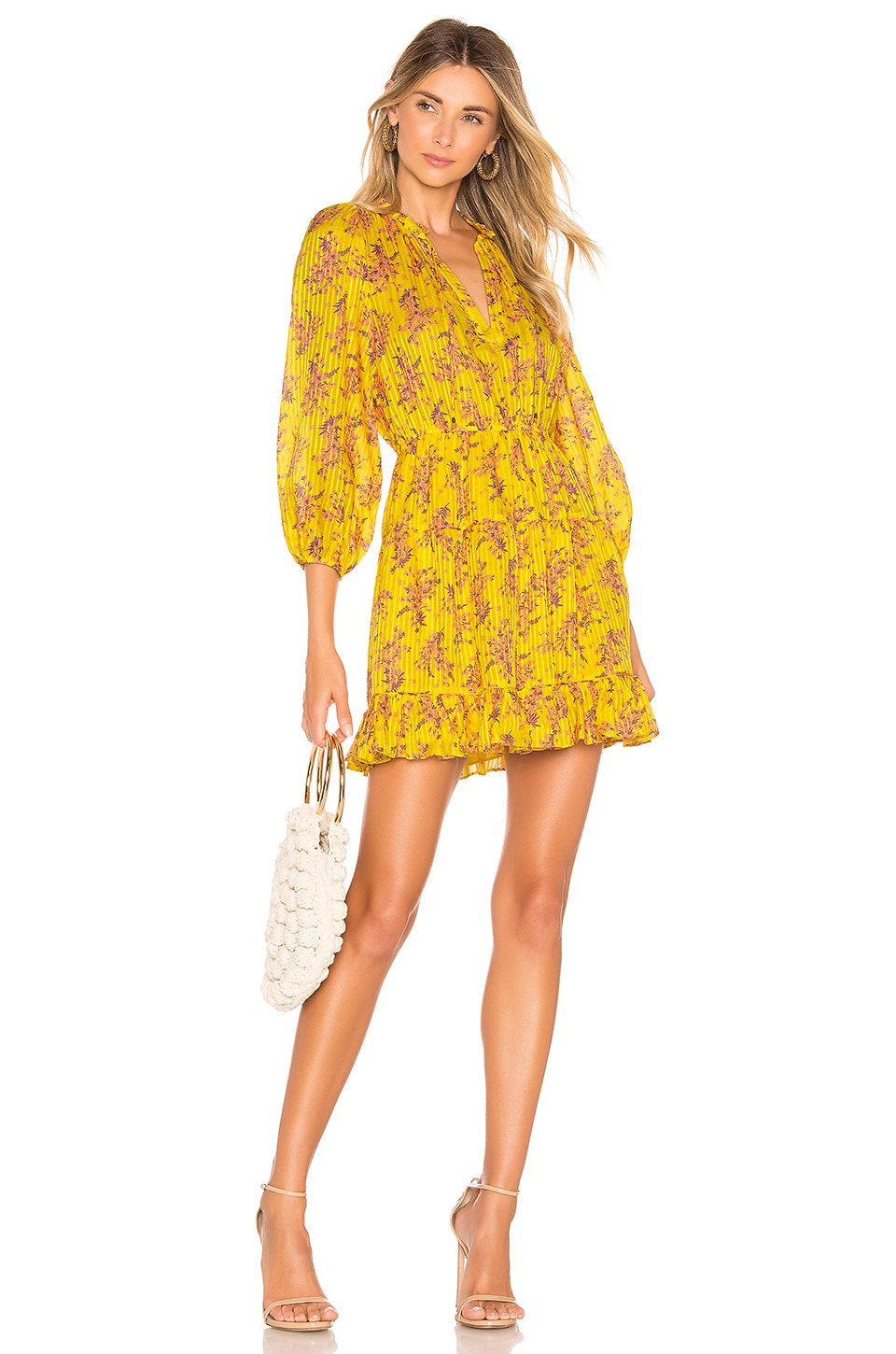 Ulla Johnson Brienne Dress in Chartreuse