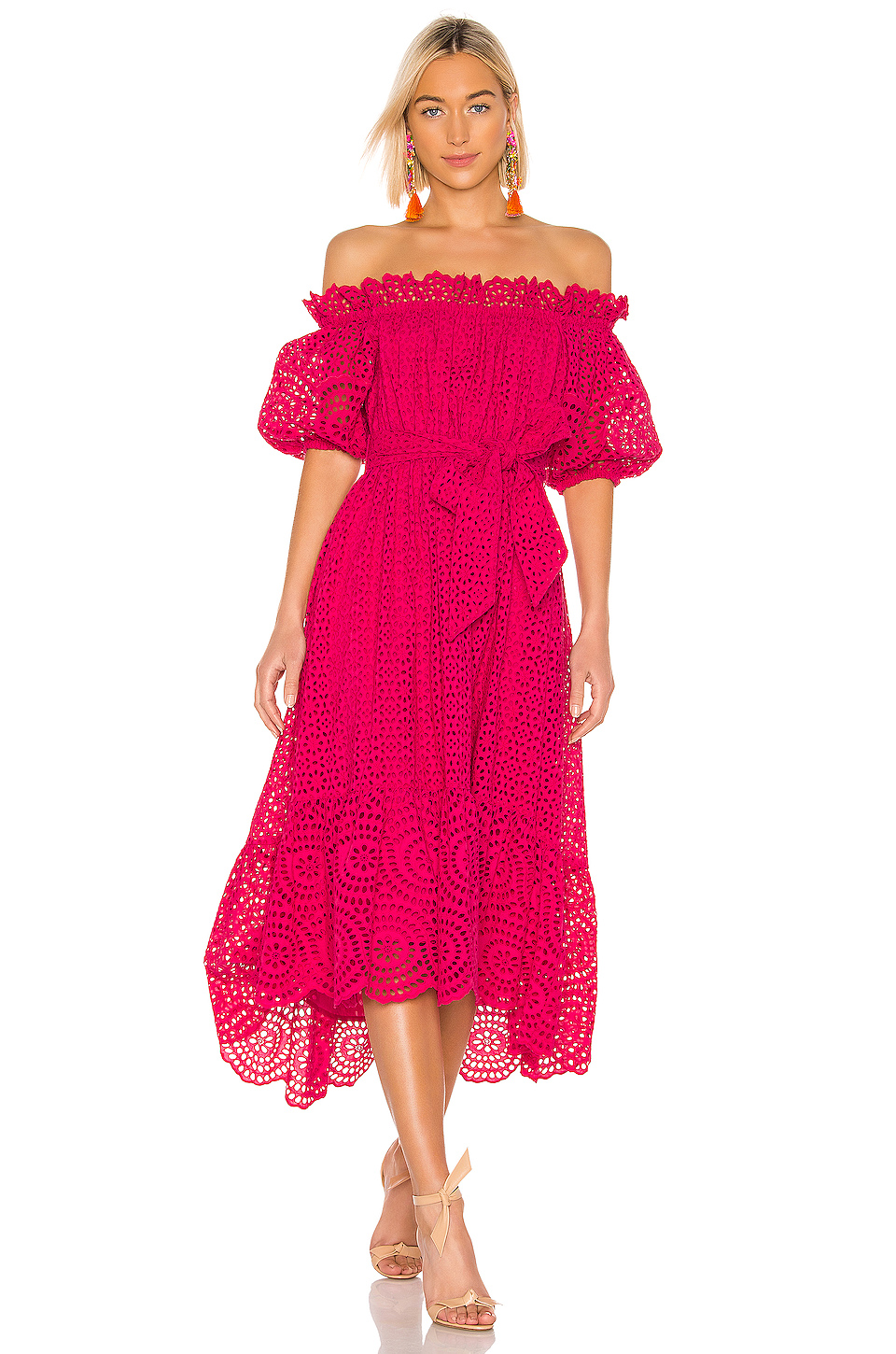 Ulla Johnson Hollie Dress in Fuchsia