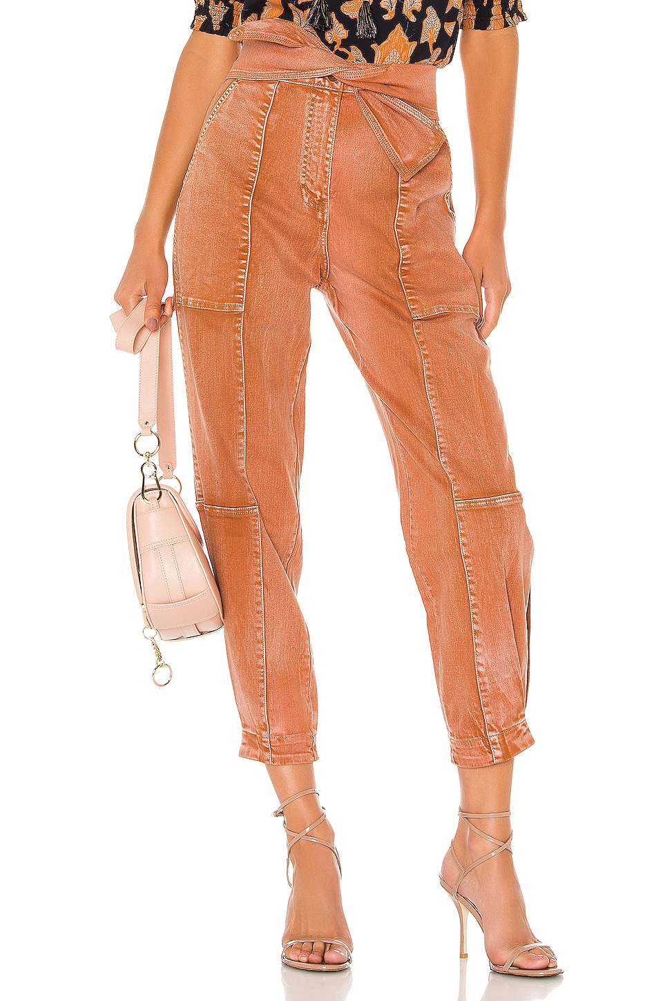 Ulla Johnson Storm Jean in Rust Acid Wash