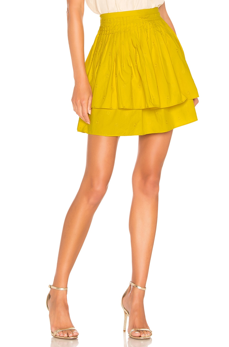 Ulla Johnson Alice Skirt in Chartreuse
