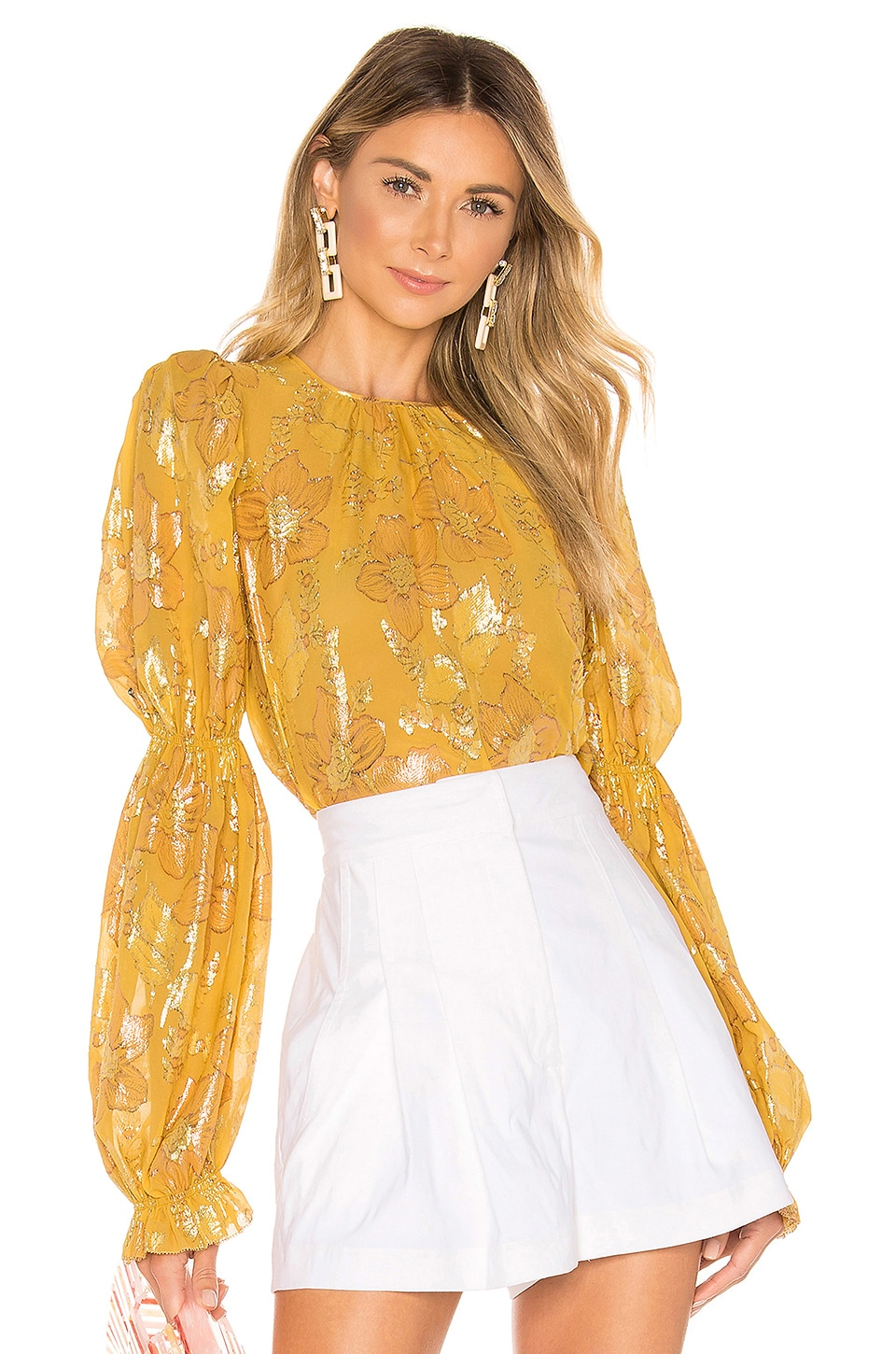 Ulla Johnson Aster Blouse in Citrine