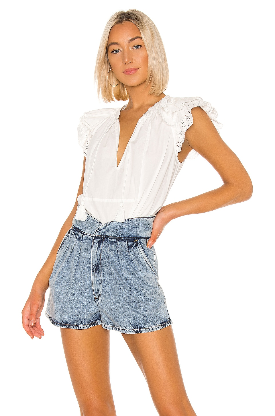 Ulla Johnson Elm Top in Blanc