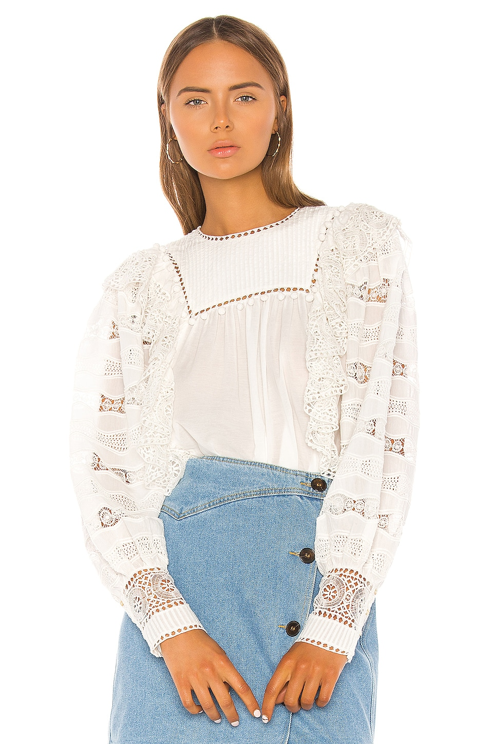 Ulla Johnson Lily Blouse in Blanc