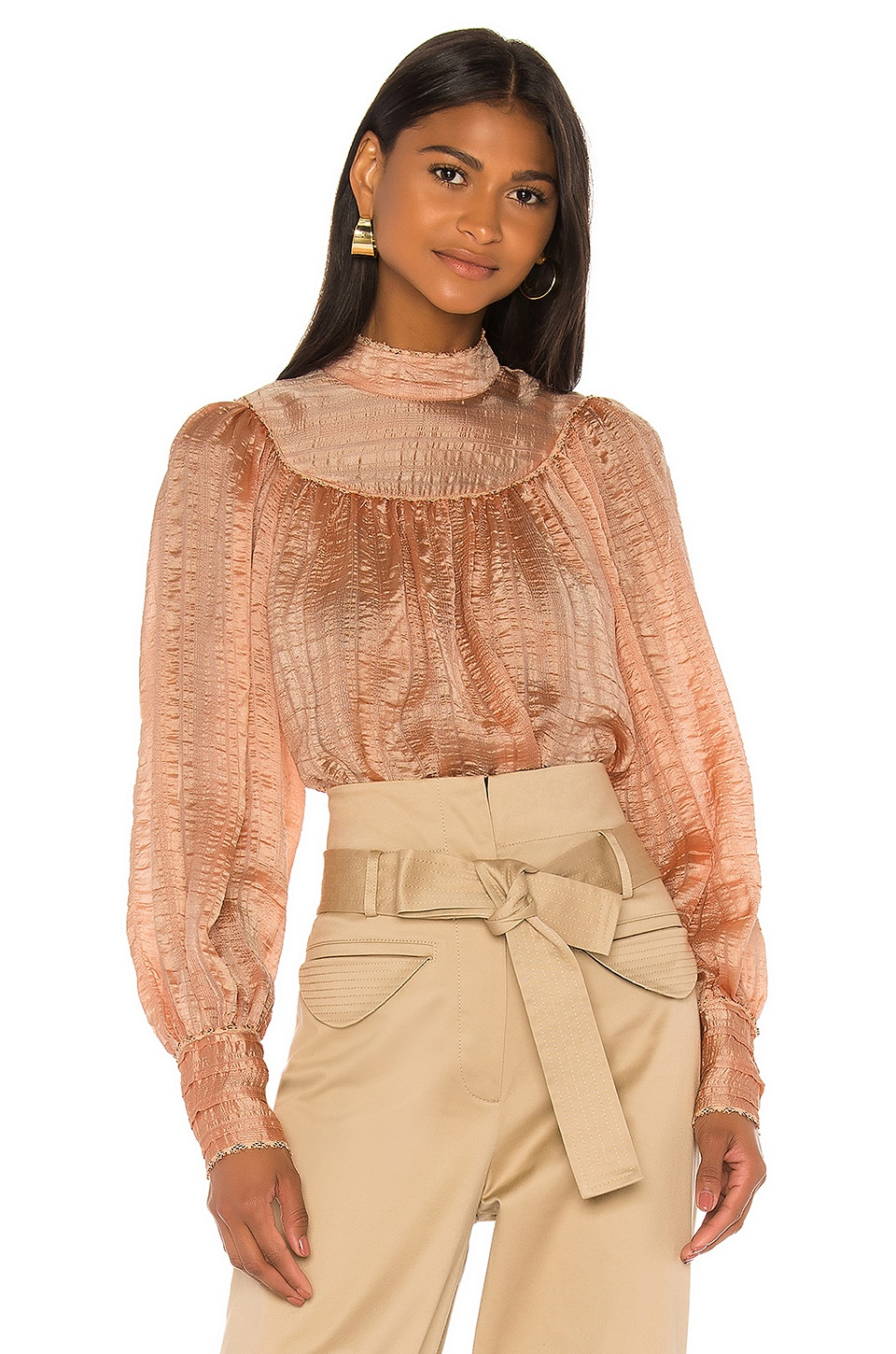 Ulla Johnson Edda Blouse in Rose