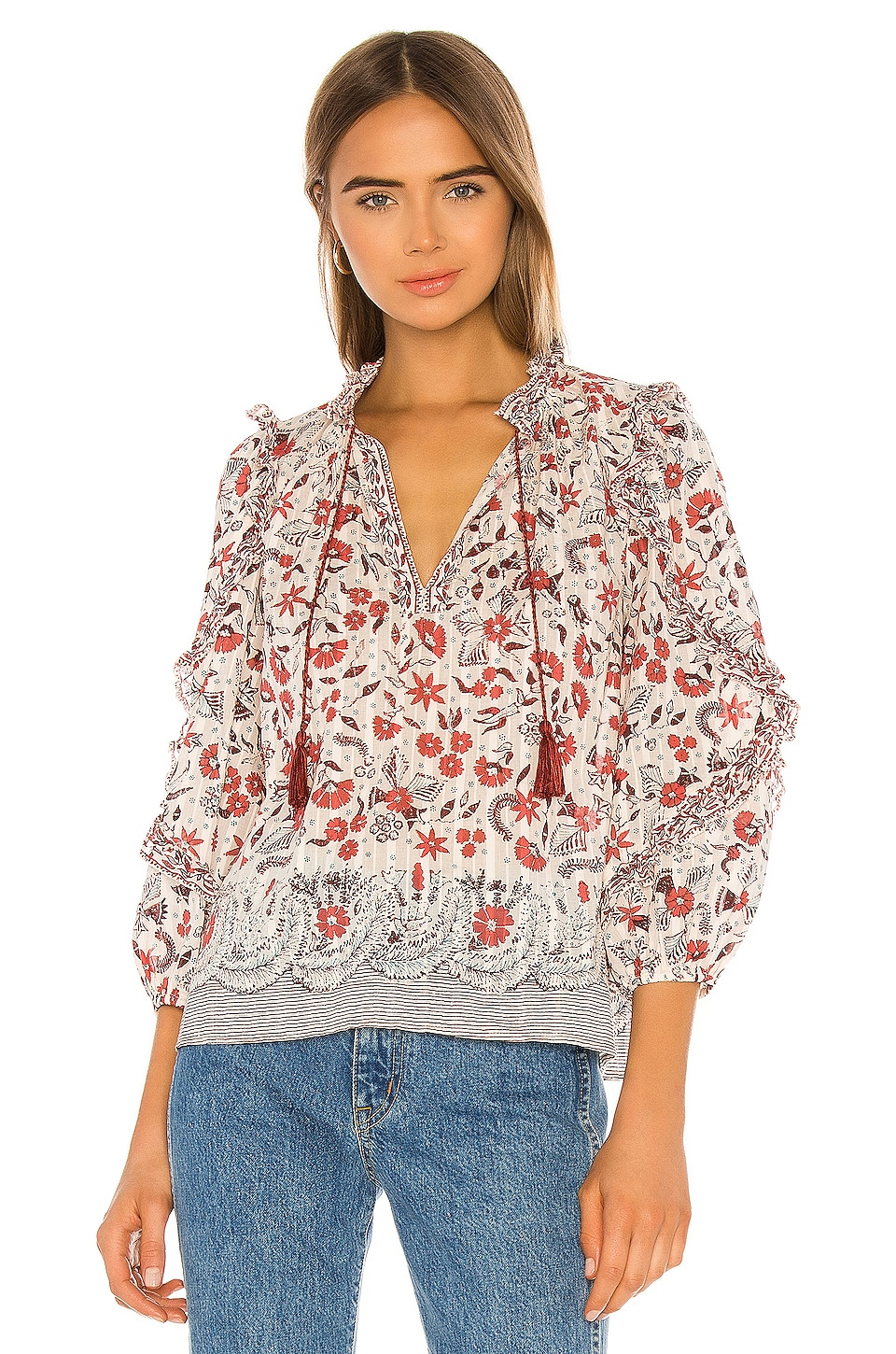 Ulla Johnson Azalea Blouse in Cream