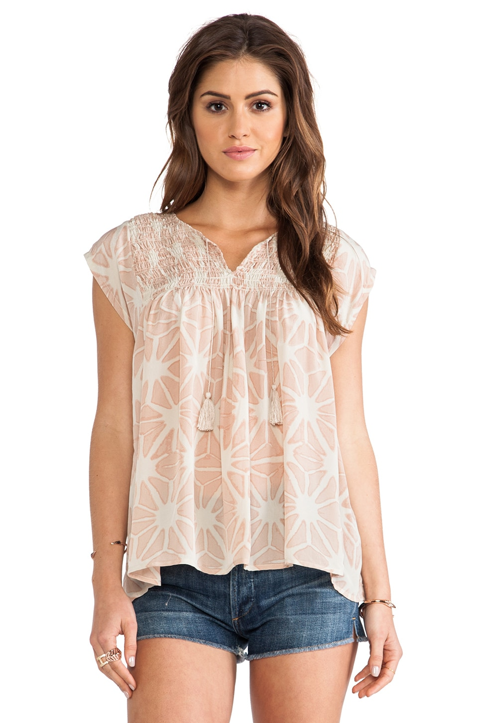 Ulla Johnson Costa Blouse in Seashell