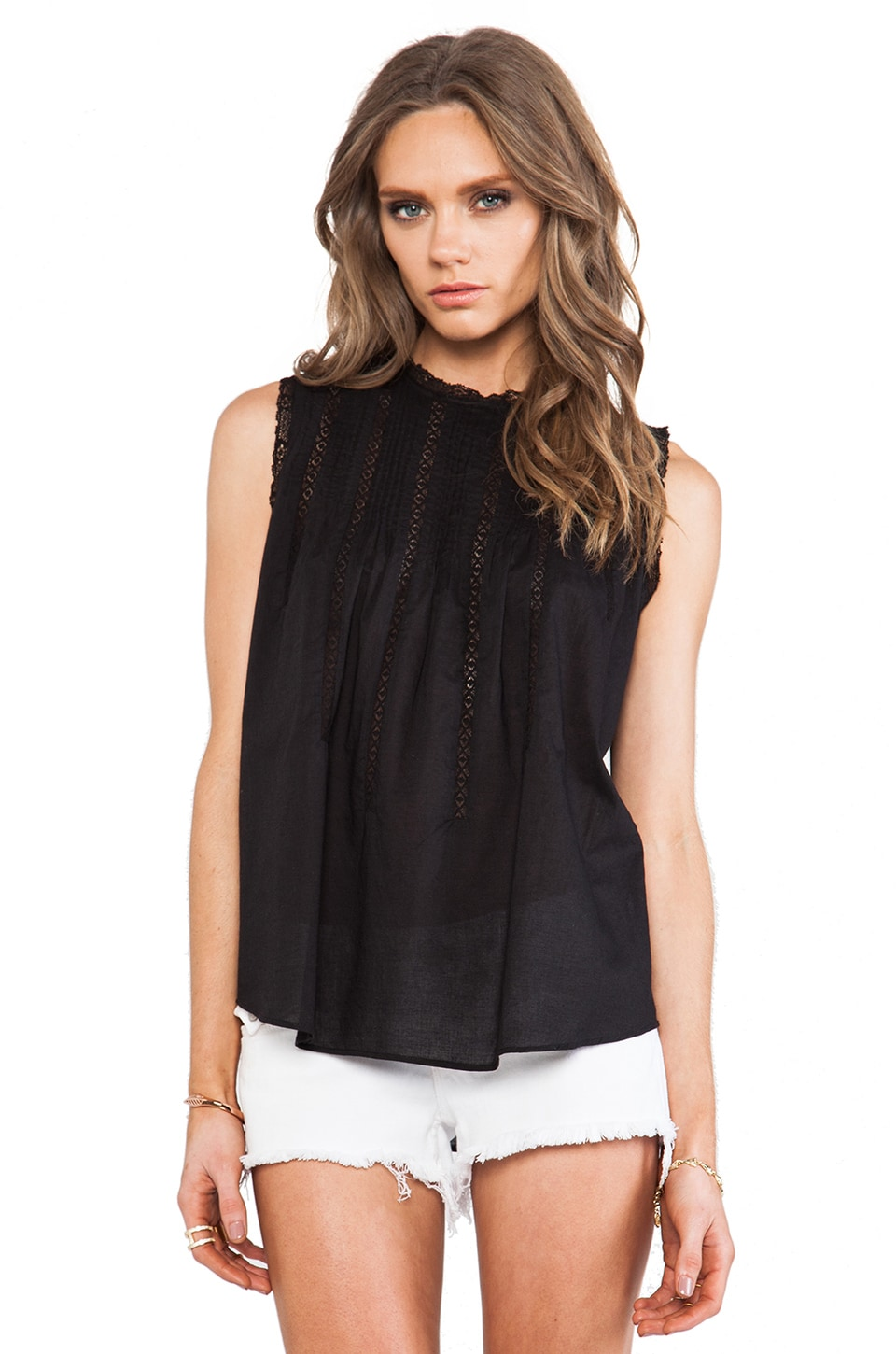 Ulla Johnson Dove Blouse in Obsidian