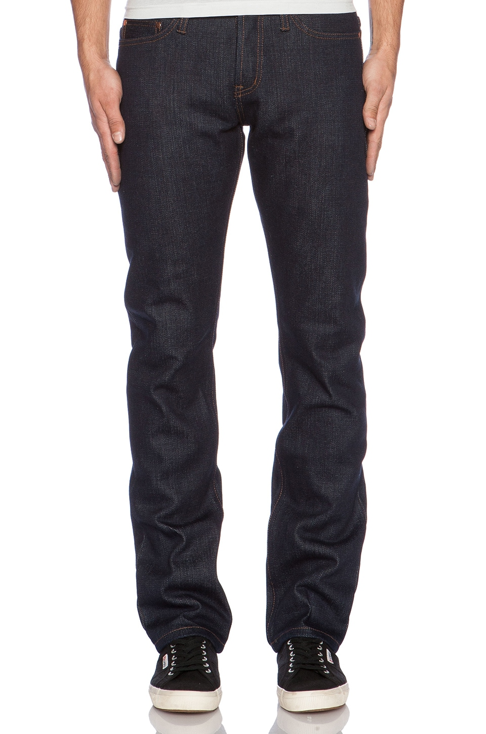 Unbranded Tapered 21 oz. Selvedge in Indigo Selvedge