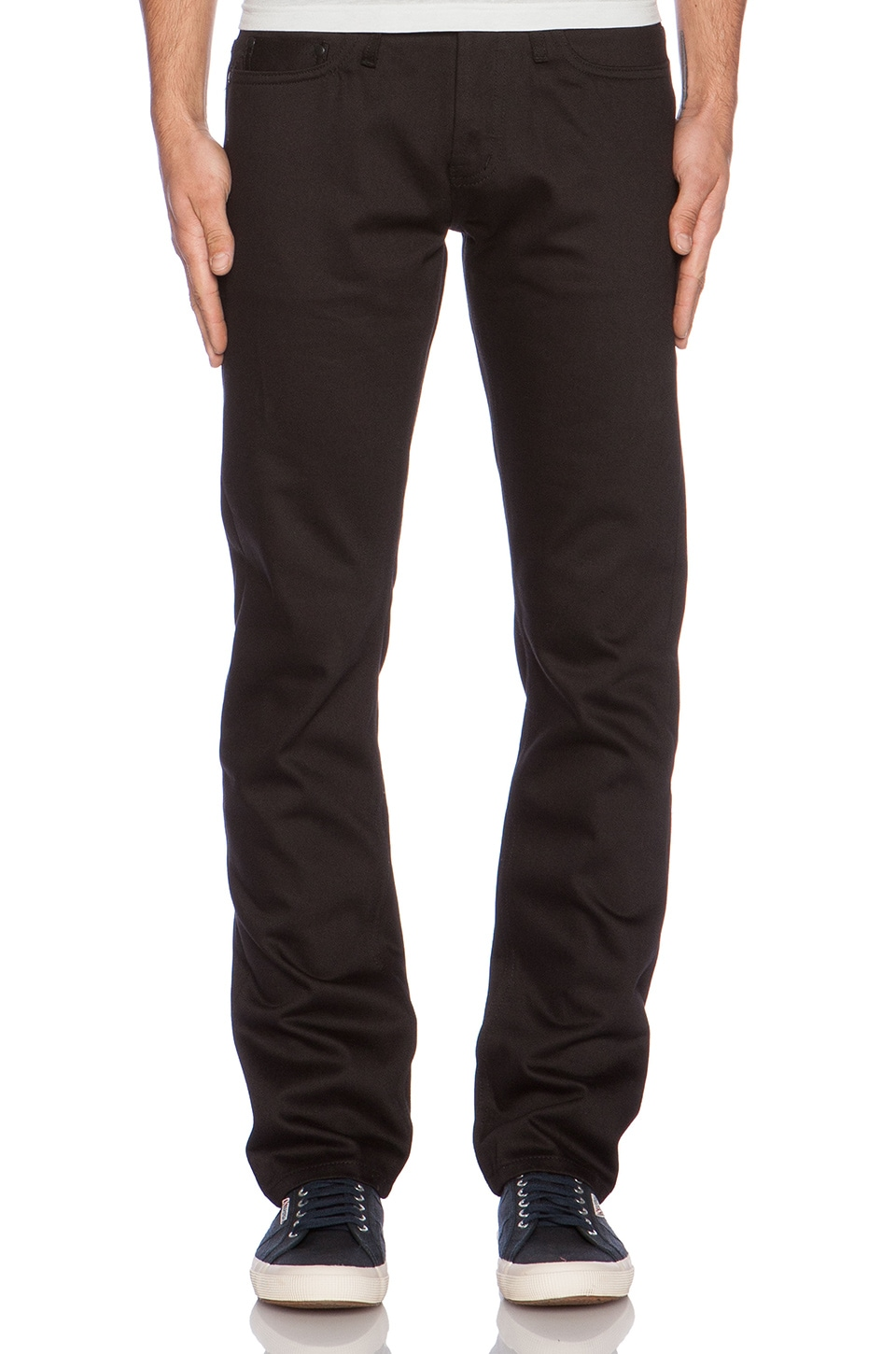 Unbranded Tapered 14.5 oz. Selvedge Chino in Black