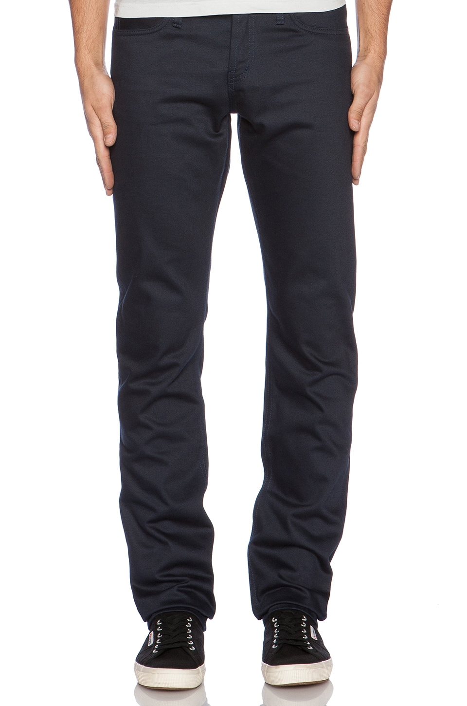 Unbranded Skinny 13 oz. Selvedge Chino in Navy