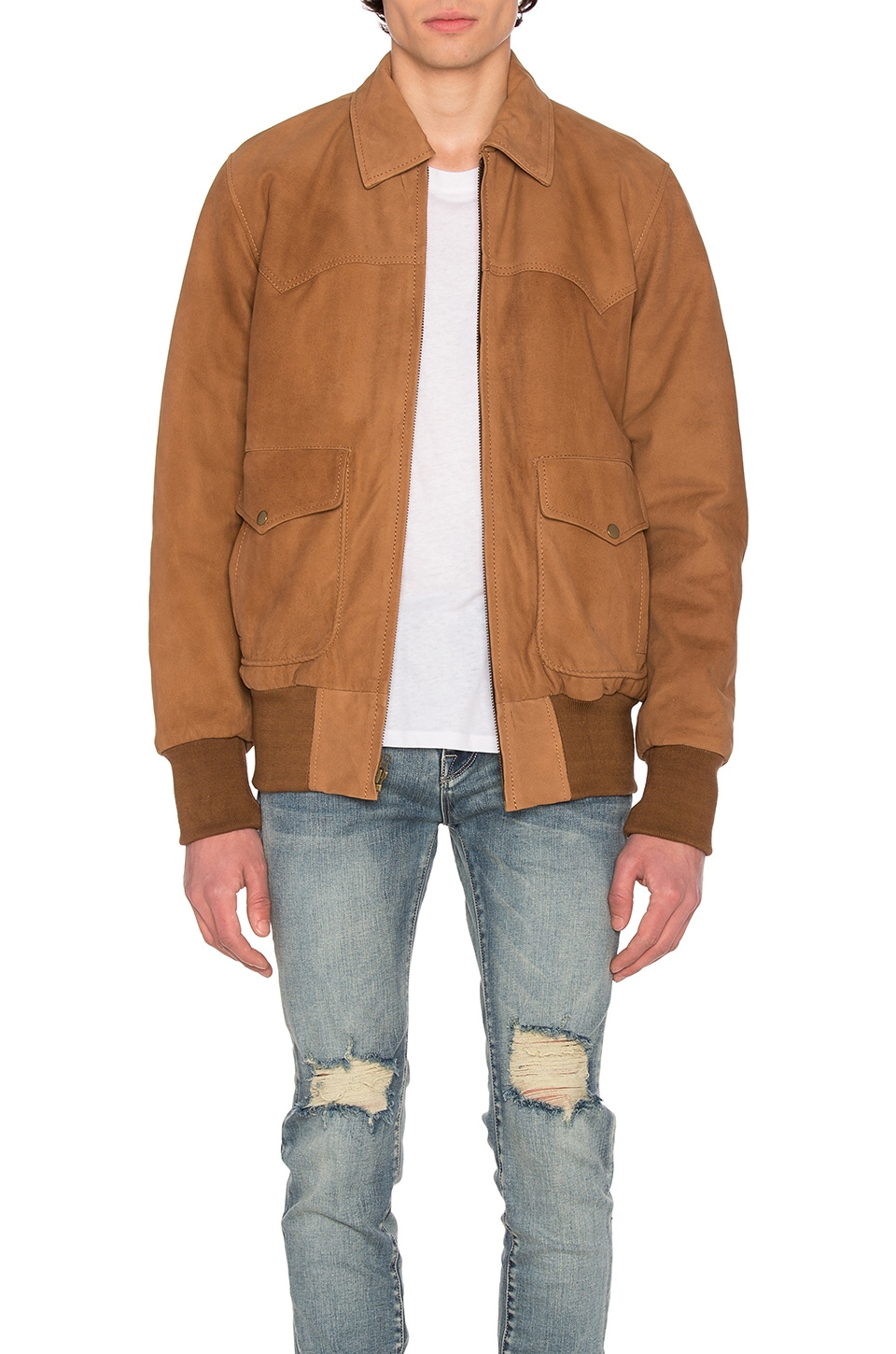 x REVOLVE Nubuck Flight Jacket by Understated Leather