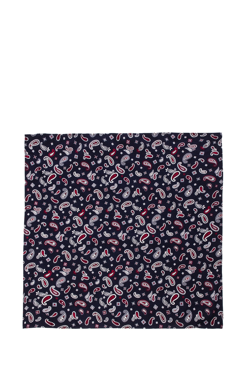 United Stock Dry Goods Bandana in Navy Paisley