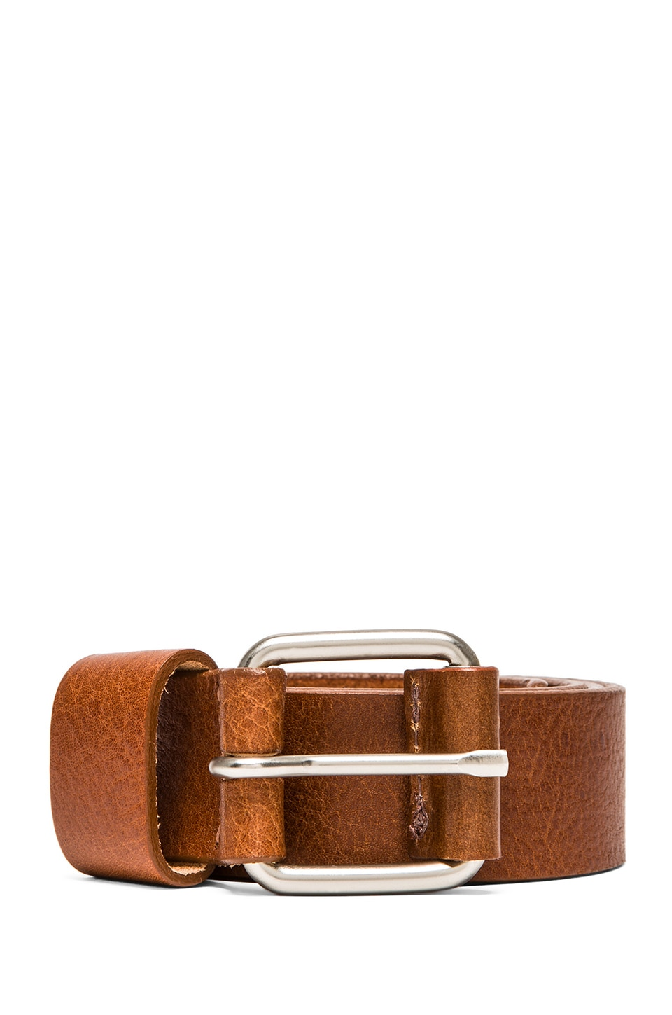 United Stock Dry Goods Square Buckle Belt in Tan