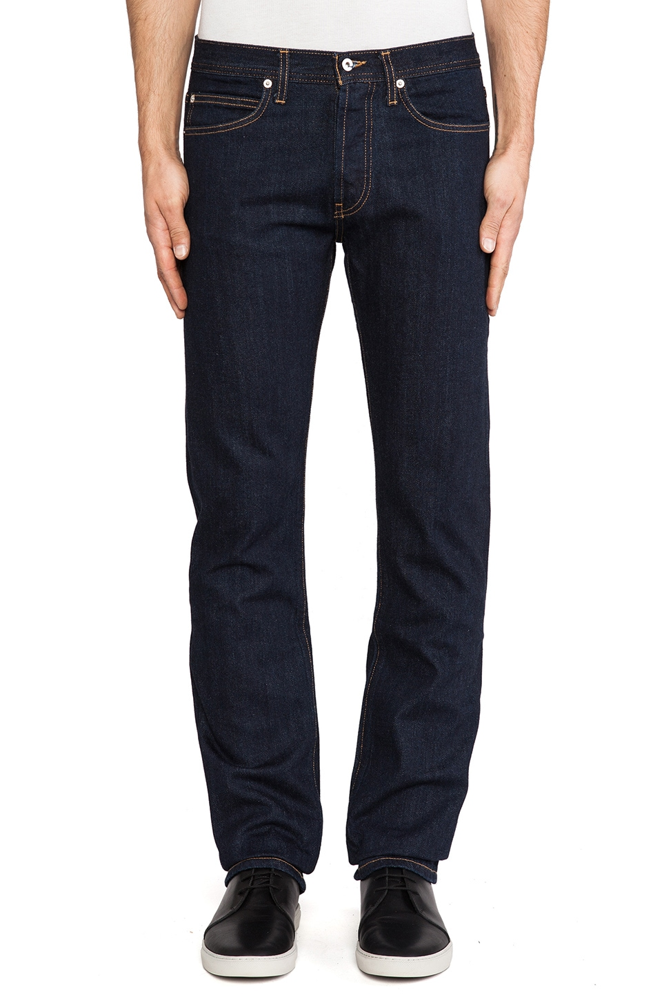 United Stock Dry Goods Narrow in Indigo Rinse