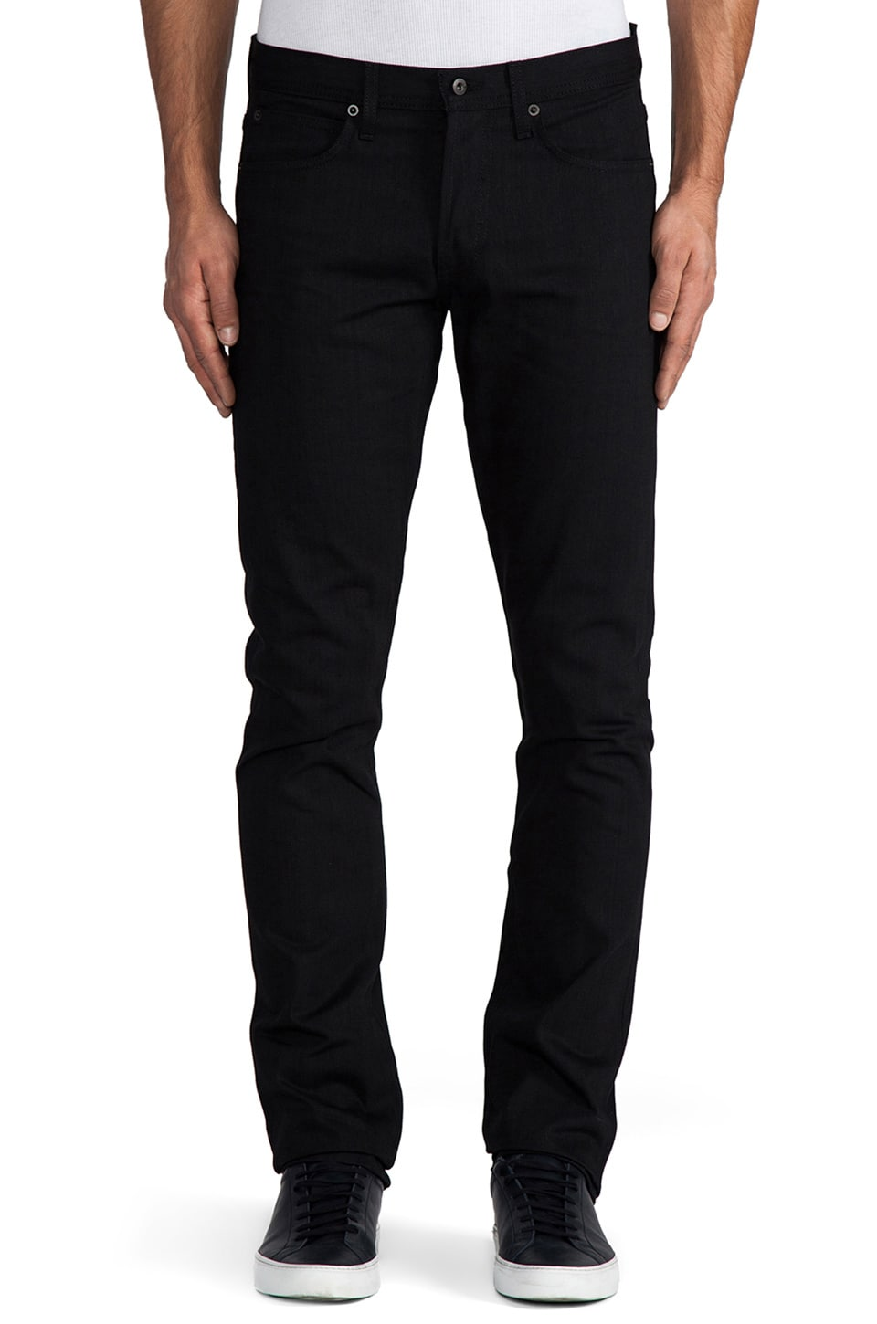 United Stock Dry Goods Slight Tonal Stitch in Black