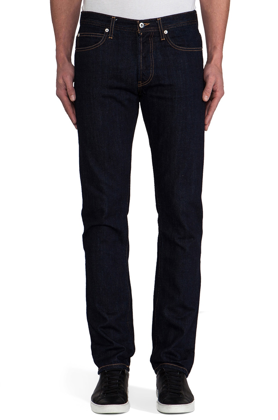 United Stock Dry Goods Slight Contrast Stitch in Indigo