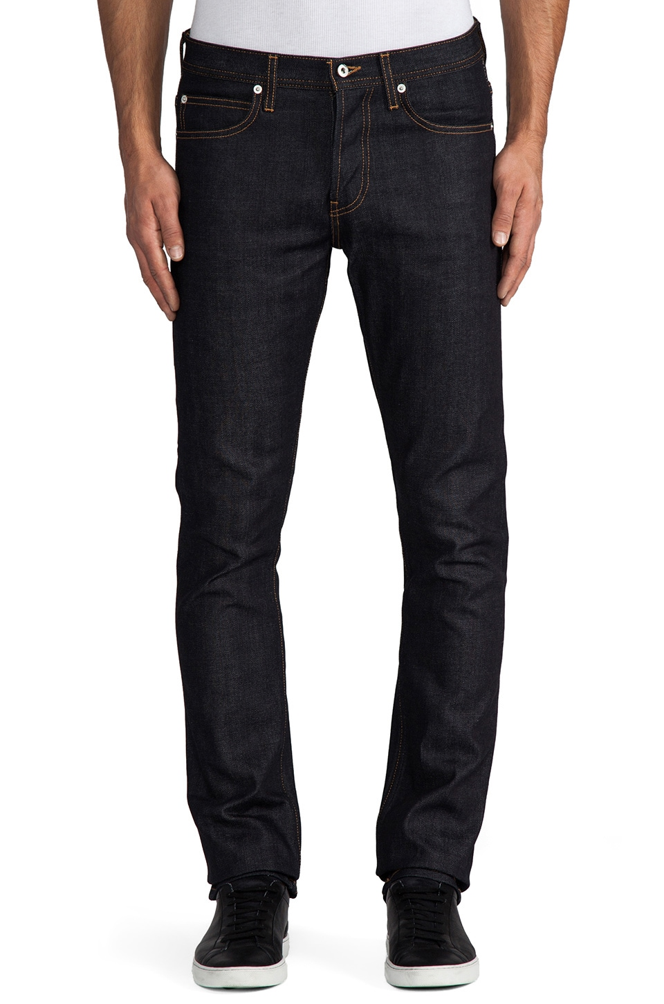 United Stock Dry Goods Slight 12.5oz Selvage in Indigo Contrast Stitch