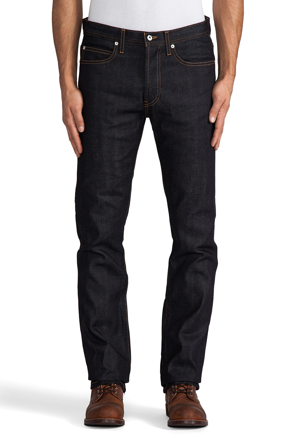 United Stock Dry Goods Narrow 12.5oz Selvage in Indigo Contrast