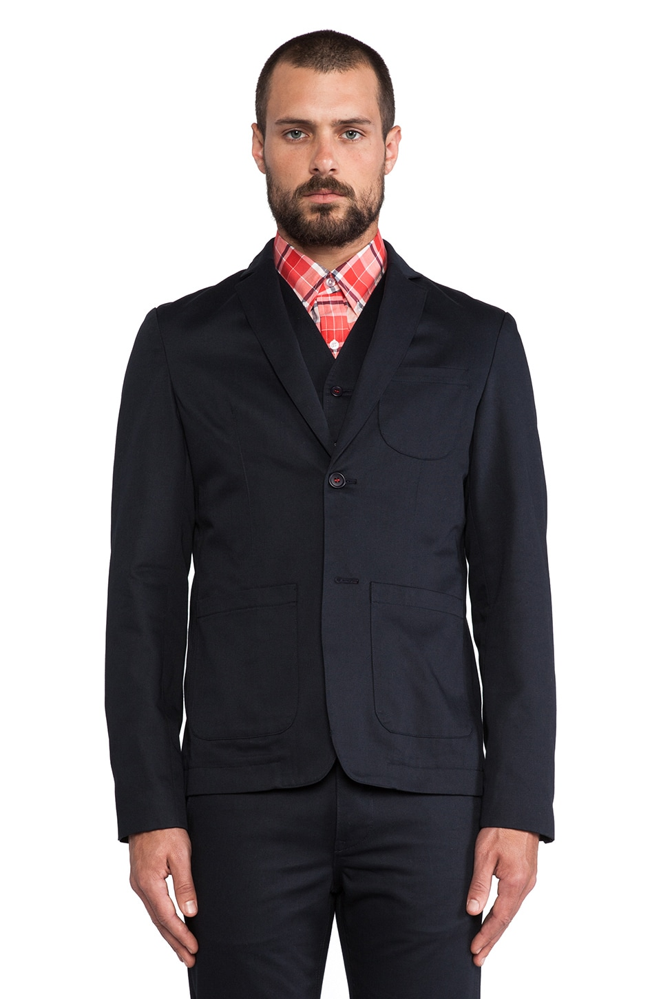 United Stock Dry Goods Twill Blazer in Navy