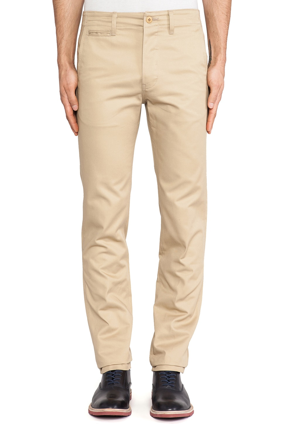 United Stock Dry Goods Twill Chino in Khaki